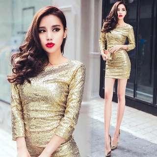 金色洋裝*2
