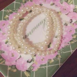 完全想自己留下來的 珍珠手環組