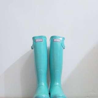 Hunter Boots Tiffany綠(附鞋盒)