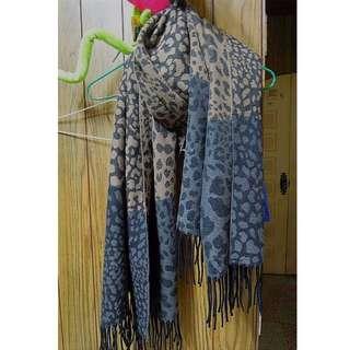 豹紋雙色圍巾
