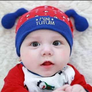 婴兒春秋0-3-6-12個月男女宝宝纯棉新生兒帽