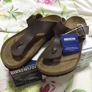 Brand New Unworn Original Authentic Ramses Birkenstock Brown Leather Strap Sandal With Box And Tag