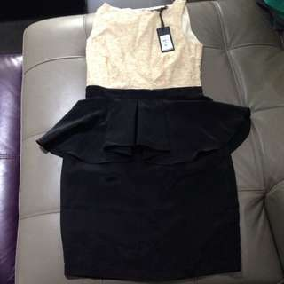 FATE Peplum Dress