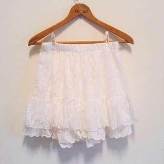 日系蕾絲褲裙