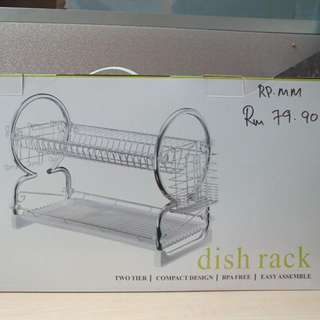 Chrome Plated Dish Rack Set