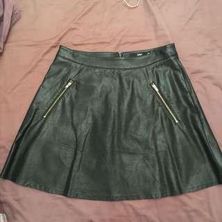 Sports girl Leather Skirt