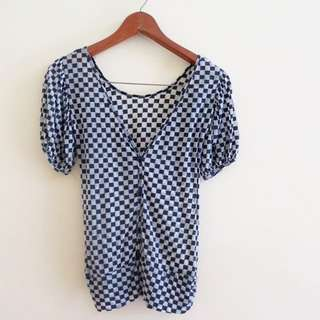 Checkered Blouse/Top