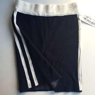 Navy Varsity Knit Skirt
