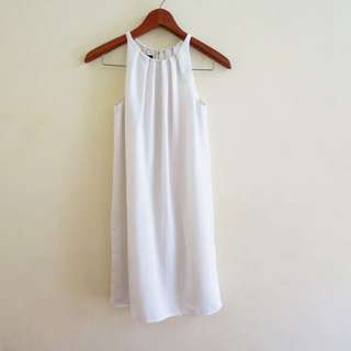 MNG White Sleeveless Dress