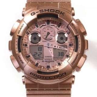 Casio Gshock Ga100GD-9A 玫瑰金