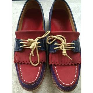 Singha Life Red Leather Loafers (Size Men's EU 37)