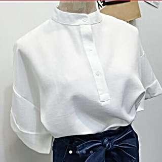 全新✨短袖設計感短版上衣