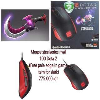 Mouse Steelseries Rival 100 Dota 2 (mouse Dota2) Pale Edge For Slark