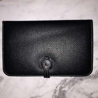 Replica Hermes Wallet Black