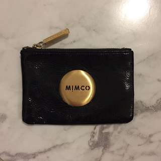 Mimco Black And Gold Small Pouch