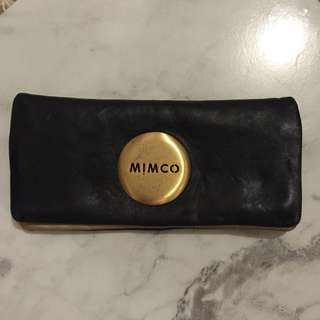 Mimco Black And Gold Purse