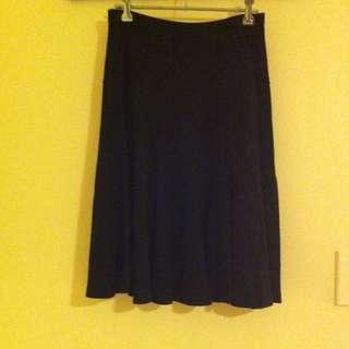 Postie Black knee-length/midi skirt