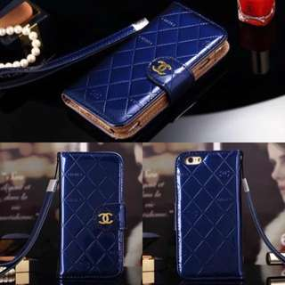 💄READY STOCKS ~ Brand New Chanel Quality Patent-Quilted Flip-Case w/Mirror & Wrist Strap For iPhone 6/ 6S (4.7inch)💄