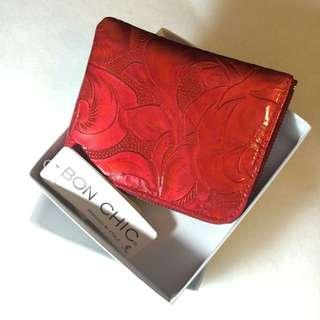Bon chic 紅色皮夾