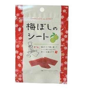 日本超好吃小零嘴-紫蘇梅片