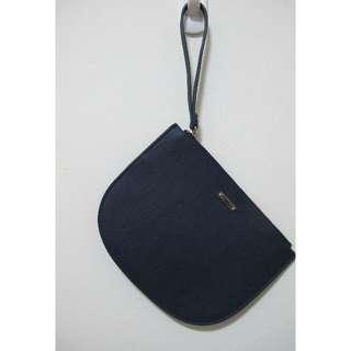 H&M深藍色手拿包