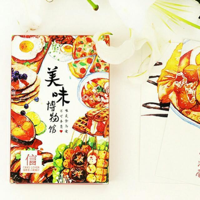 手繪佳餚《美味博物館》明信片組