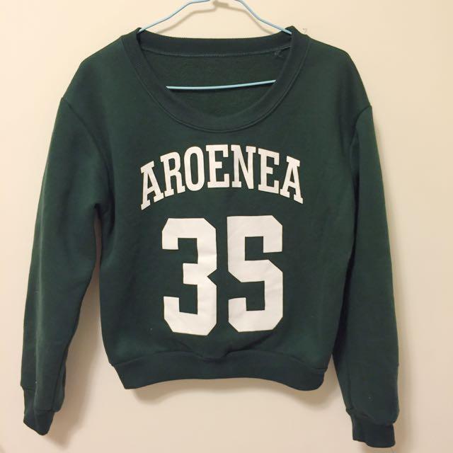 刷毛上衣 綠