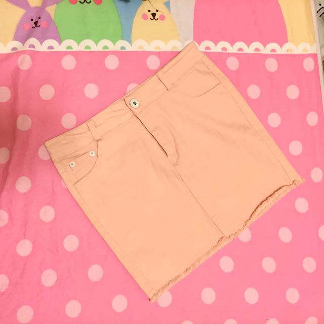 粉紅 短裙 窄裙 S