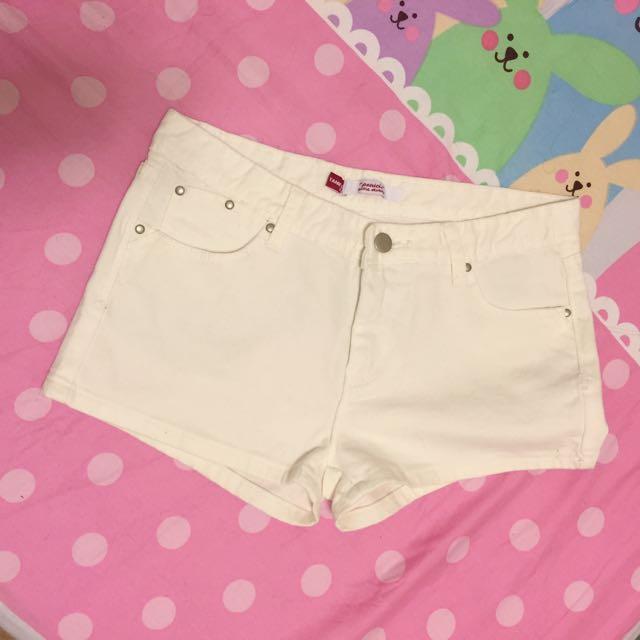 短褲 白 M