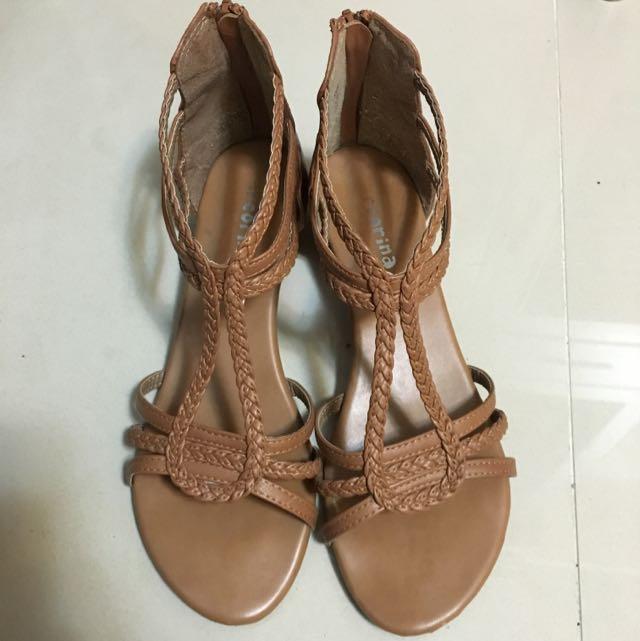 arcorina 低跟編織涼鞋38號