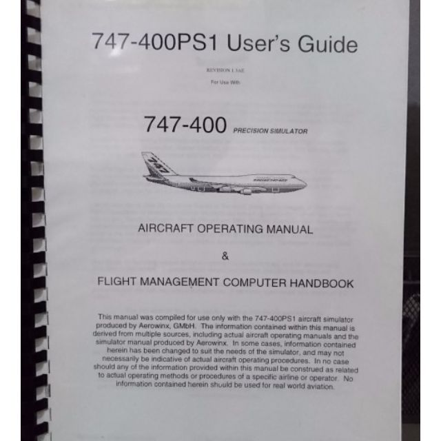boeing b747 400 aircraft operating manual and flight management rh sg carousell com Boeing 747-400 Seating-Chart Boeing 747 400 Business Class