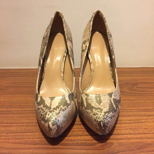 Charles&Keith Textured Platform Heels