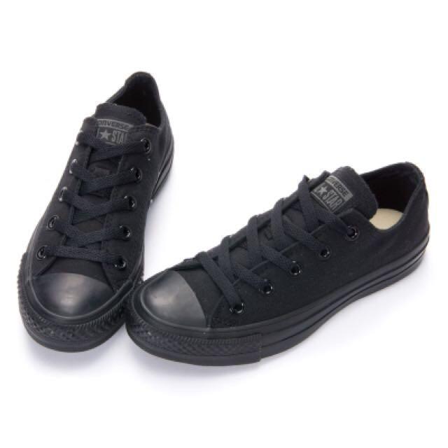 (全新)Converse 全黑色 24.5 帆布鞋