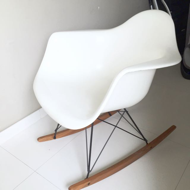 Eames Rocker Rocking Modernica Fiberglass Authentic Arm Chair Shell 8wO0PXnk