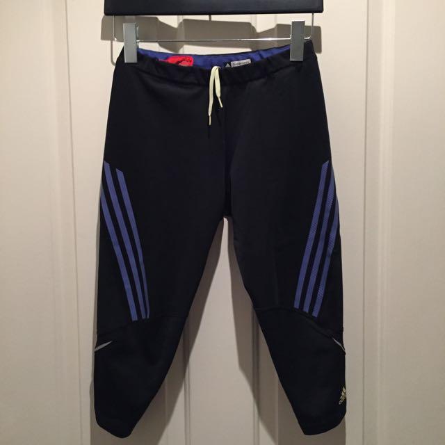 🚩FREE SHIPPING ADIDAS Supanova Clima Cool Cropped 3/4 Capri Gym Pants Tights Leggings Size Medium 10