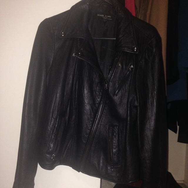 Genuine Leather Jacket Size 14
