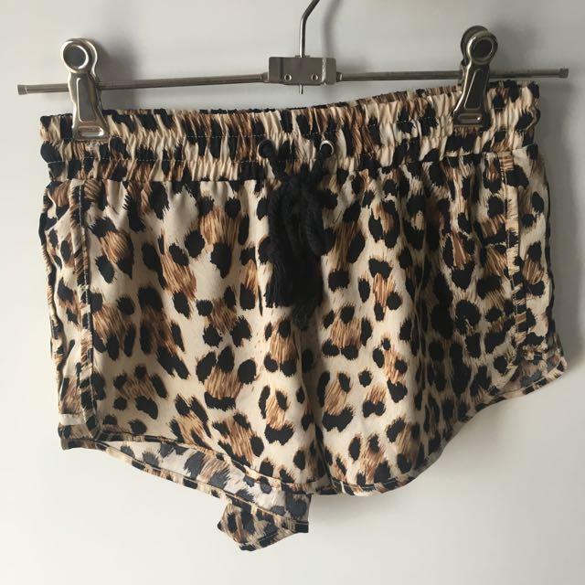 Leopard Print Shorts Size 6/XS