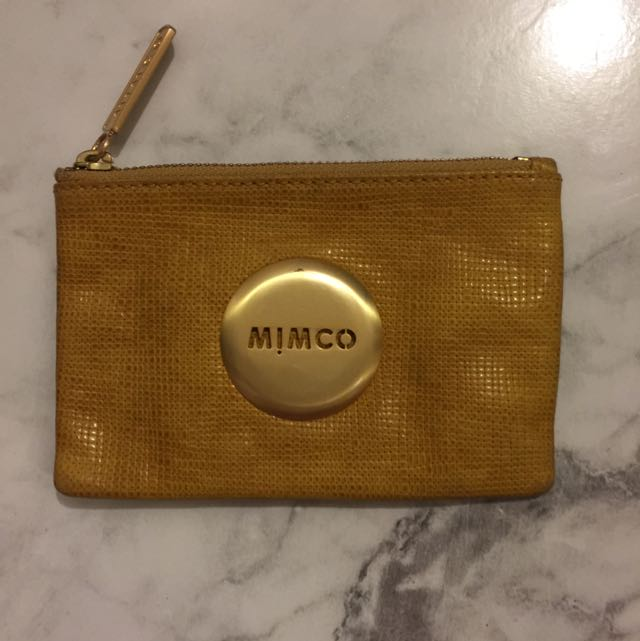 Mimco Small Pouch Mustard
