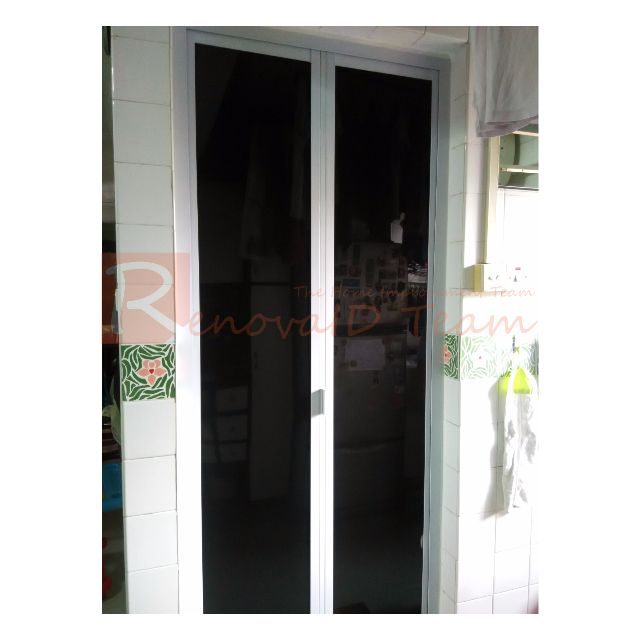 Awesome New Aluminium Bi Fold Door For Hdb Bto And Re Sale Flat Home Interior And Landscaping Ologienasavecom