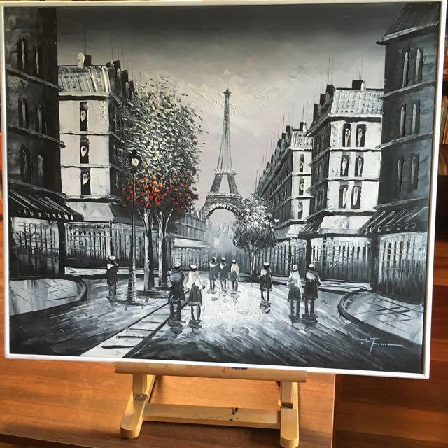Original Painting Paris Streetscape