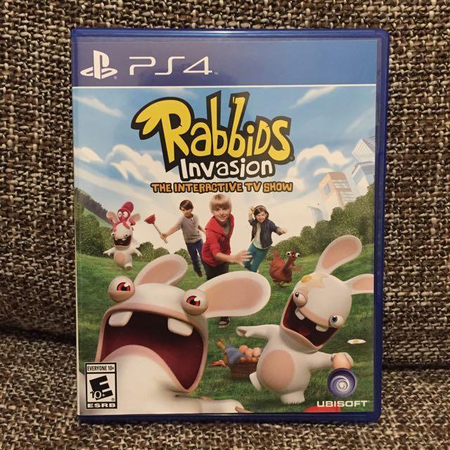 Ps4 二手派對遊戲《瘋狂兔子》