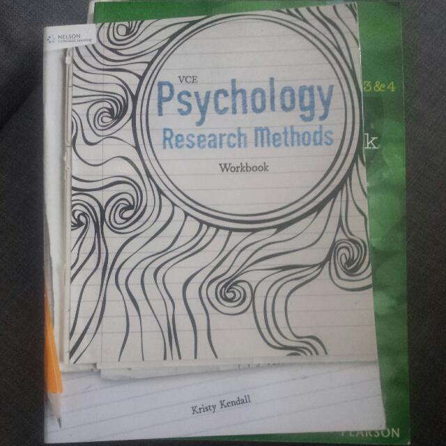 Psychology Research Methods Work book