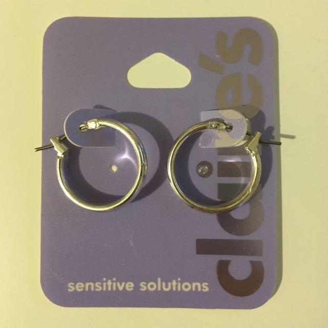 Silver Hoop Earrings 18mm