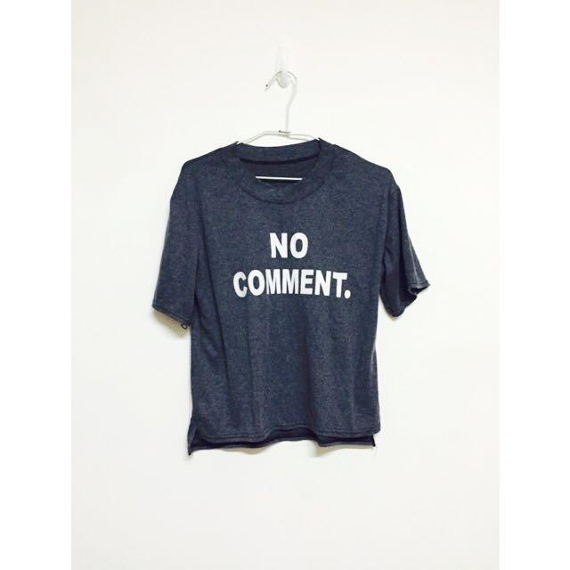 鐵灰棉T恤