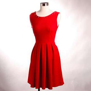Chic Simple Red Dress
