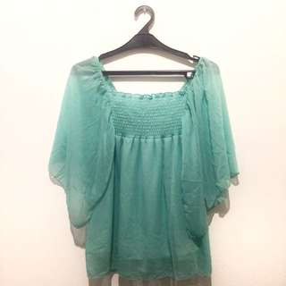 X-theory Chiffon Butterly Top