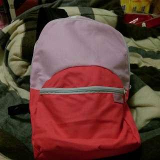 全新 螢光粉橘色 小型後背包