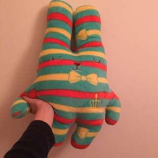 (降)兔兔毛毯玩偶(可收式)