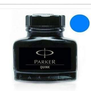 全新 ! PARKER 派克 瓶裝鋼筆墨水 57ml ★藍色
