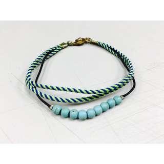 麻繩串珠扣式手鍊